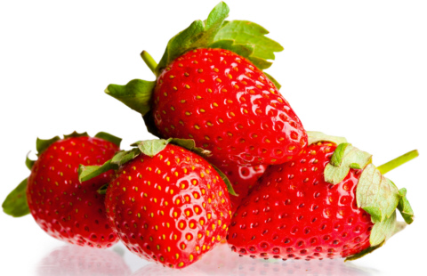 Berry of strawberry on white background. It is isolated.